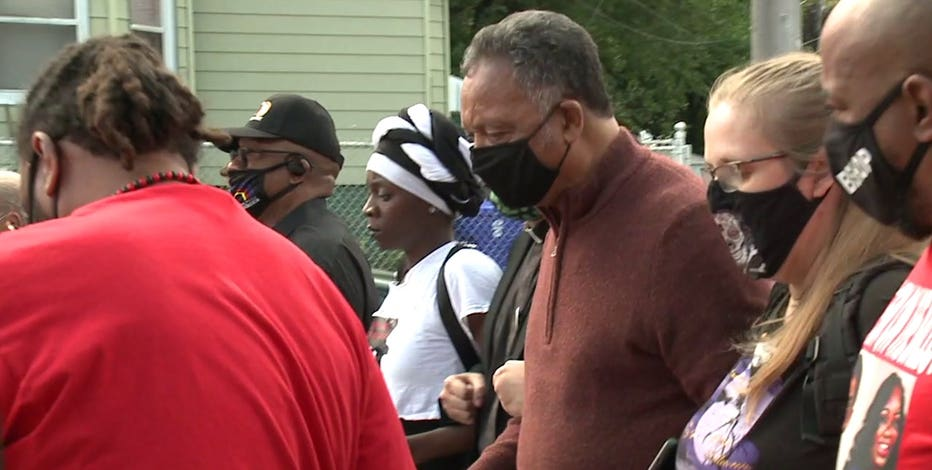 Rev. Jesse Jackson joins march for Breonna Taylor, Jacob Blake