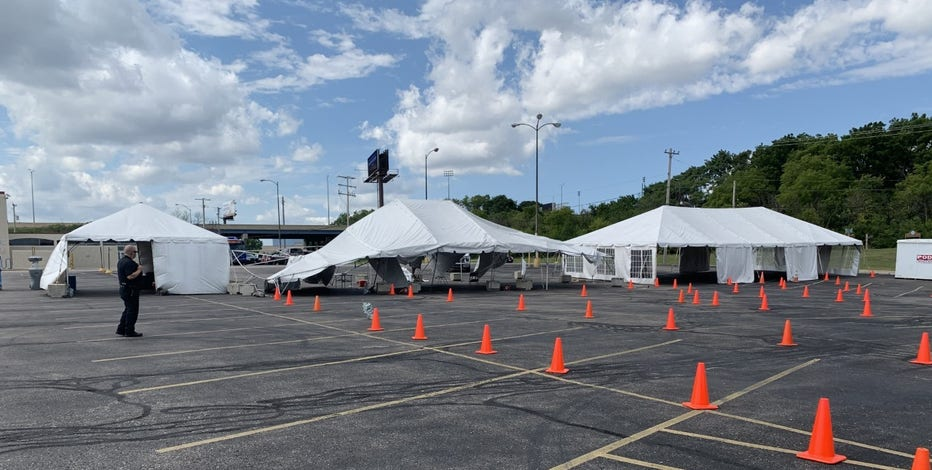 COVID-19 testing site shut down Thursday after weather damages tent