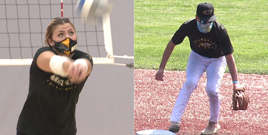 With sports delayed to spring, practice boosts morale at UWM