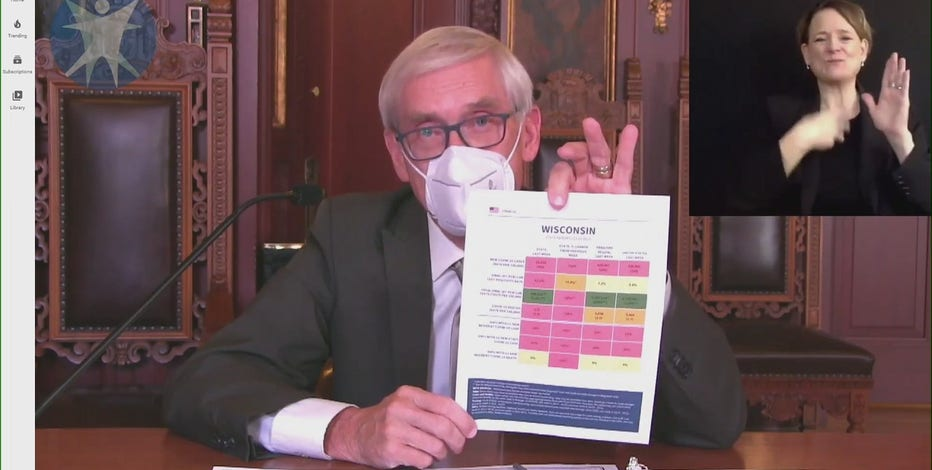 Gov. Evers' message on COVID-19: 'People have to wear a freaking mask'