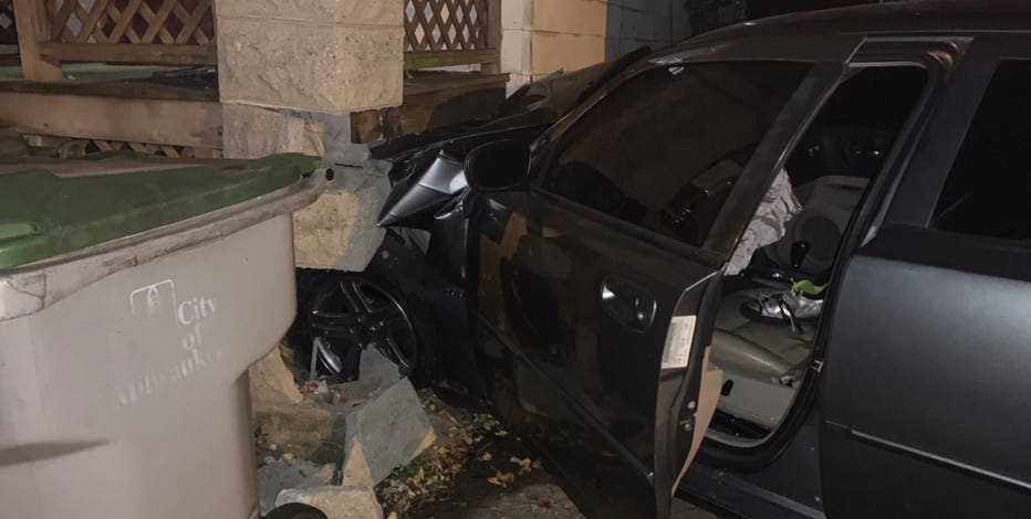 Driver crashes into home near 19th and Grant, flees scene