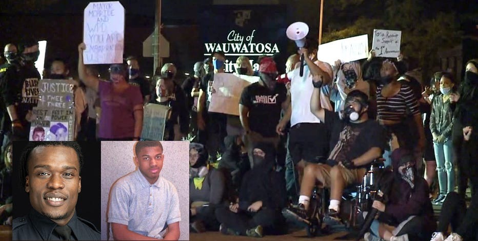 Protests form in Wauwatosa for 3rd night after Mensah decision