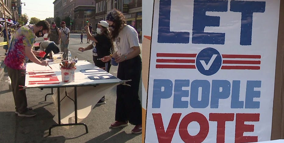 Milwaukee group holds voter registration block party