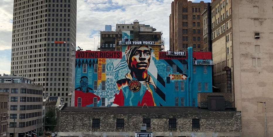 'Get out and vote:' New mural on display in downtown Milwaukee