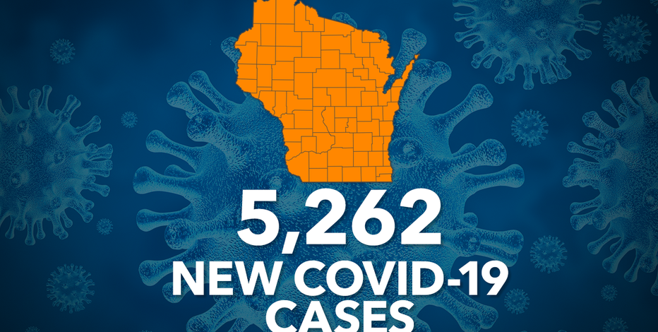 Wisconsin DHS: COVID-19 cases up record 5,262; deaths up 64