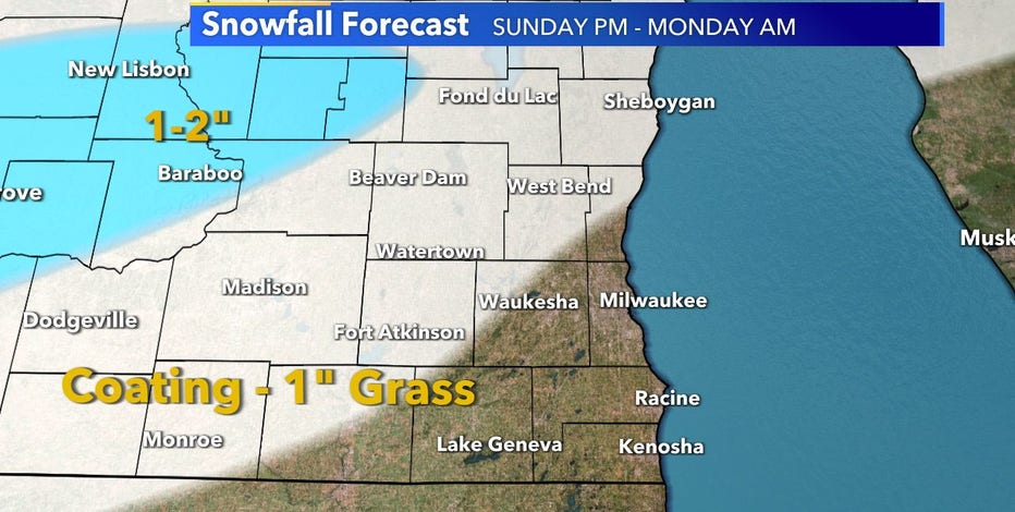 First snow of the season forecast for parts of SE Wisconsin