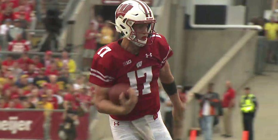 Badgers' Chryst unsure on how much time QB Jack Coan could miss