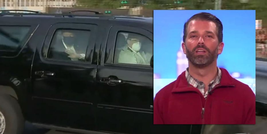 Donald Trump Jr. defends president's drive outside Walter Reed