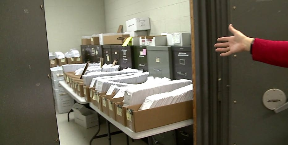 Waukesha ballots in vault before police escort for counting