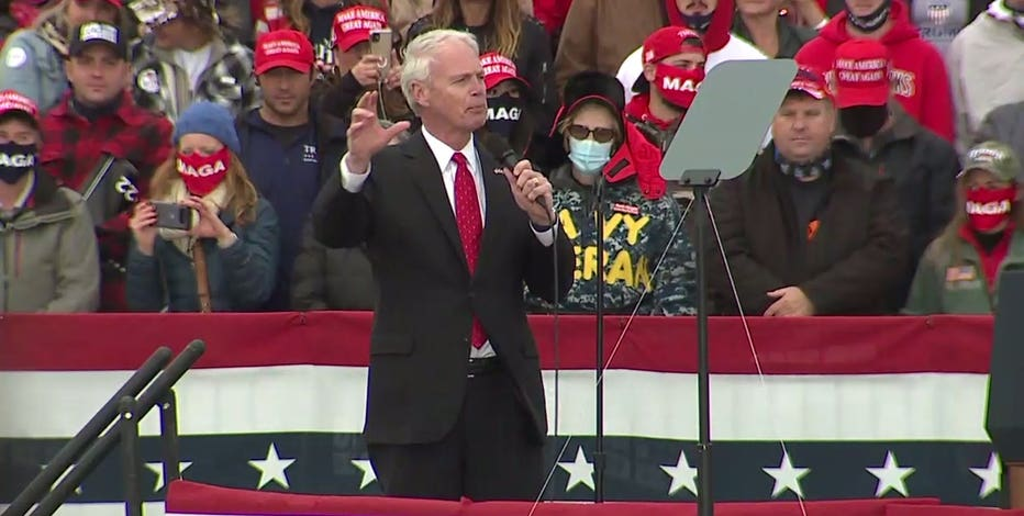 Sen. Johnson touts President Trump to Wisconsin leaders