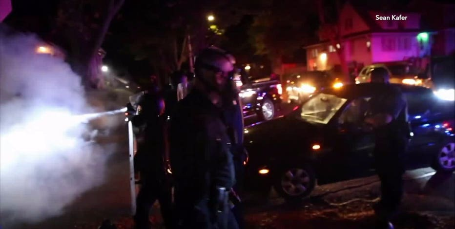 Video shows clash between police, protesters overnight in Wauwatosa