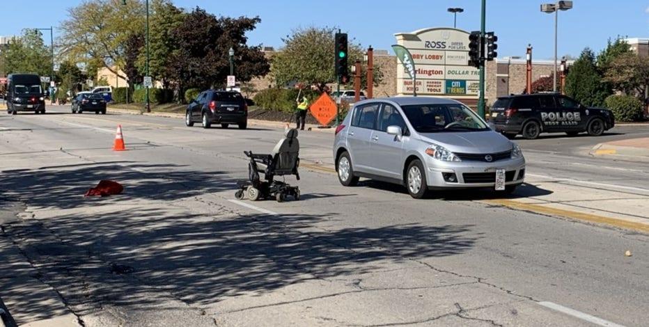 1 injured after crash involving motorized wheelchair in West Allis