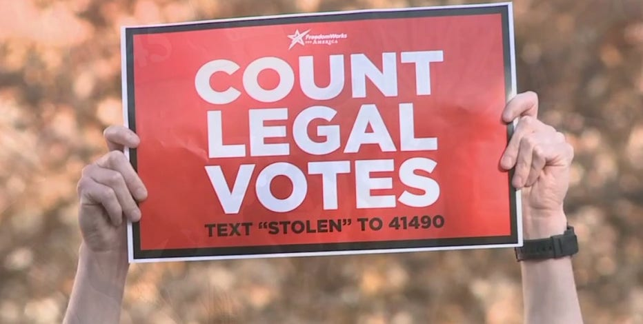 Group rallies in Madison, concerned about alleged voter fraud