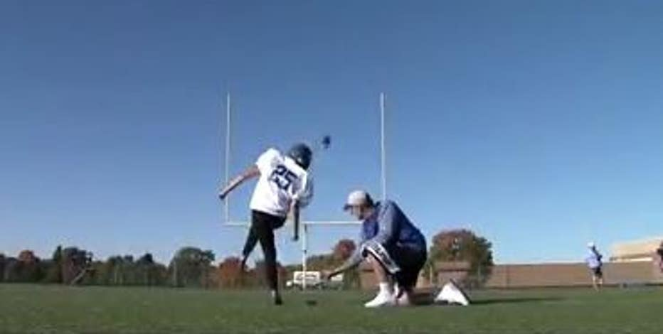 West Bend West's 1st female kicker hopes to 'encourage other girls'