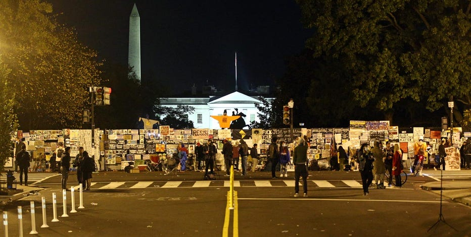 Scattered protests, no wide unrest, in US on election night