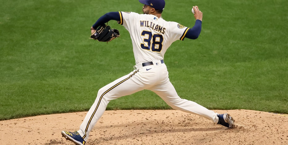 Brewers reliever Devin Williams wins NL Rookie of the Year