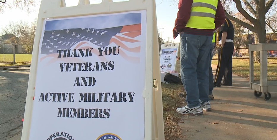 Drive-thru in Waukesha looks to help, honor military members