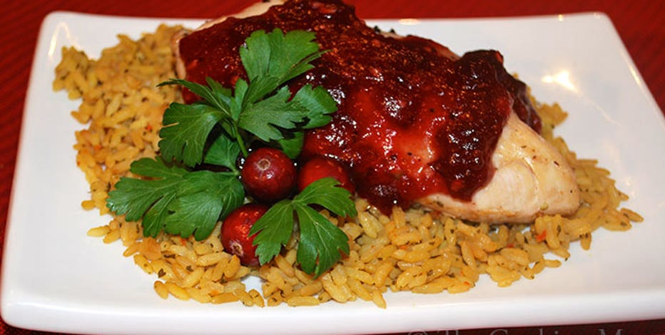 Cranberry chicken bake: It's a baked chicken recipe with a twist