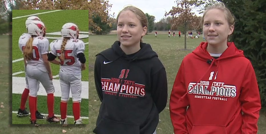 'Girls can play:' Twins turn heads on youth football team