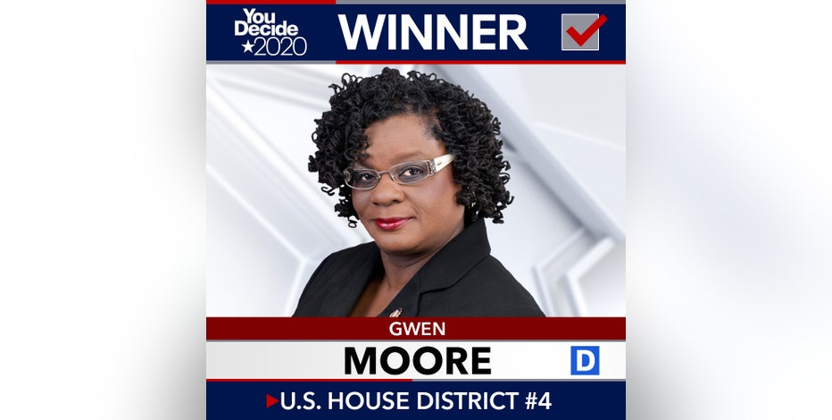Democrat Gwen Moore wins reelection to US House