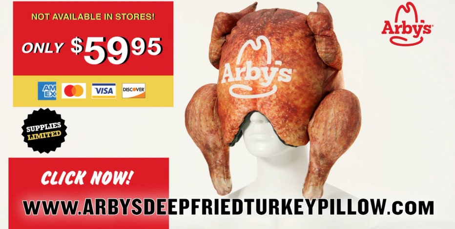 Arby's debuts Deep-Fried Turkey Pillow designed to be worn over your whole head, for some reason