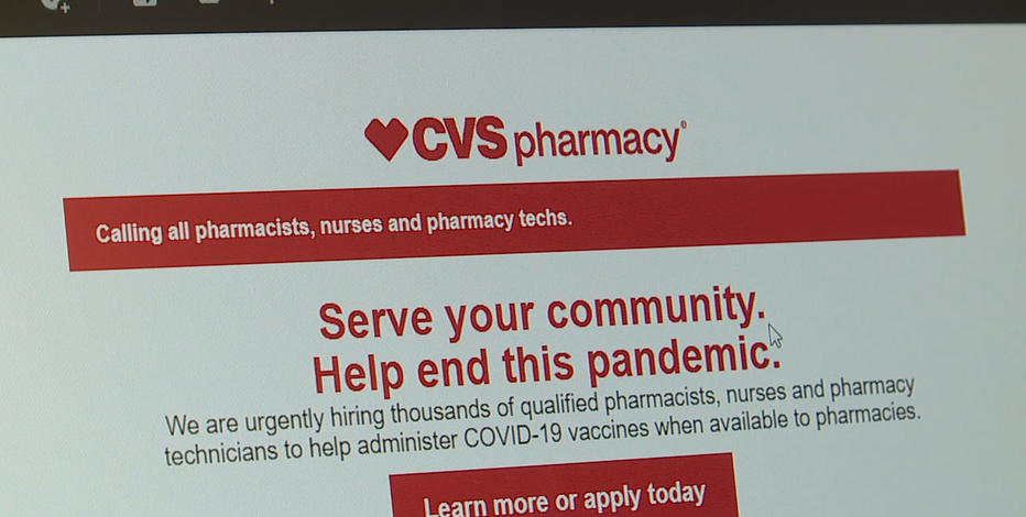 CVS hiring hundreds in Wisconsin for vaccine distribution