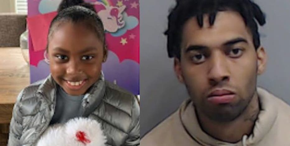 Manhunt after 7-year-old shot while shopping with her family