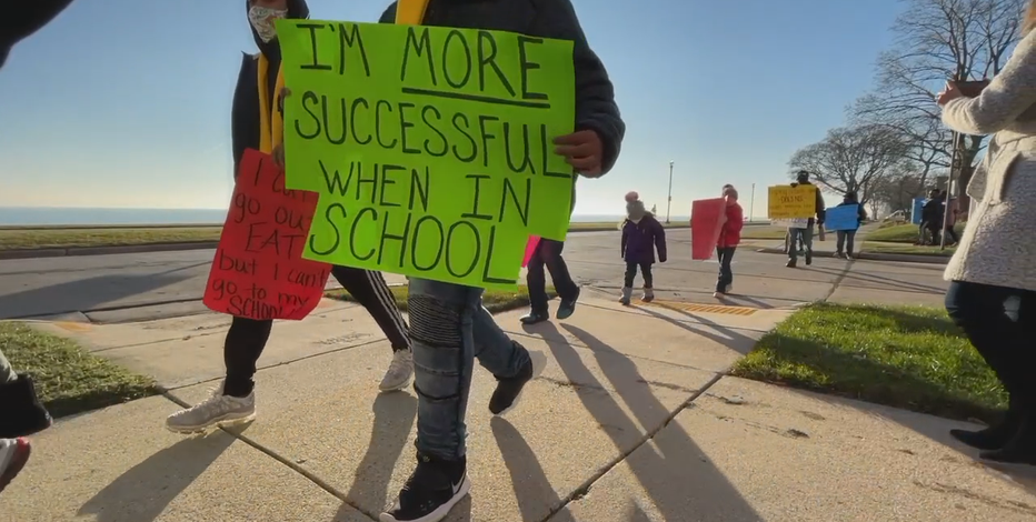 Educators, families protest and petition for in-person learning