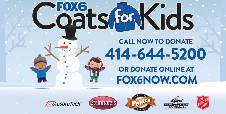 Make a donation to the FOX6 Coats for Kids phone bank