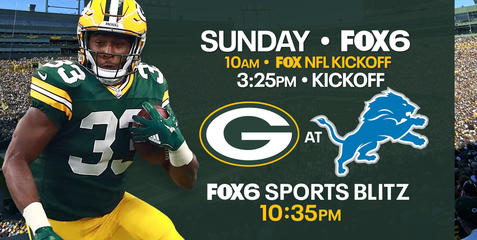 Packers meet Lions in 1st road division game since Week 1