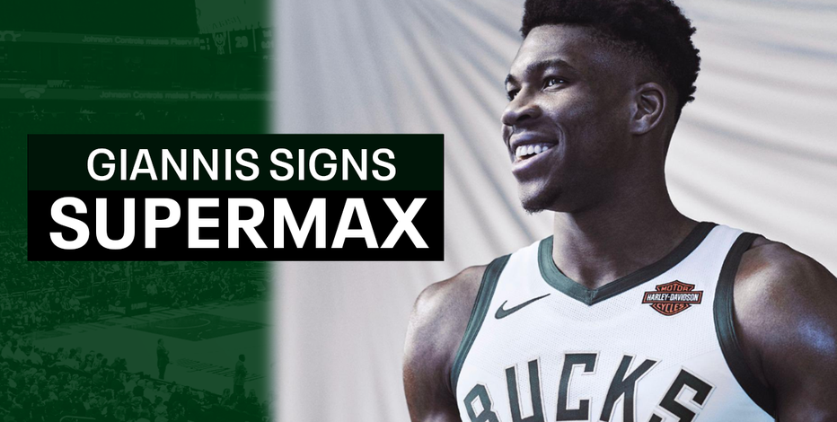 Giannis Antetokounmpo signs supermax extension with Milwaukee Bucks