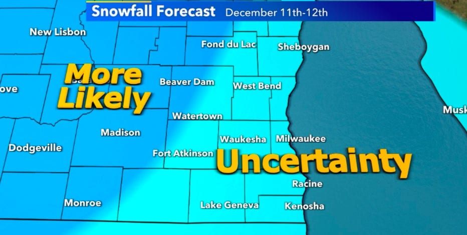 High uncertainty with weekend snow potential at this time