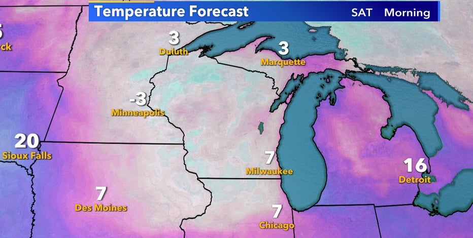Coldest air of the season arrives by the weekend