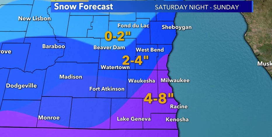 Winter storm watch for 7 counties in SE WI begins 6 p.m. Saturday