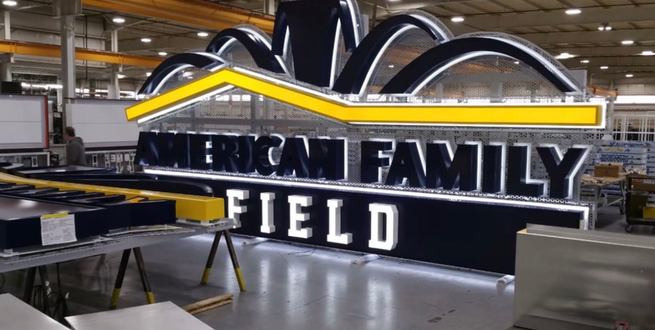American Family Field signs delivered to the home of the Brewers