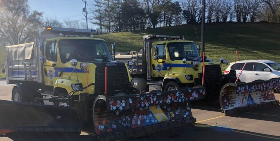 Students paint Waukesha County snowplows, get educated on safety