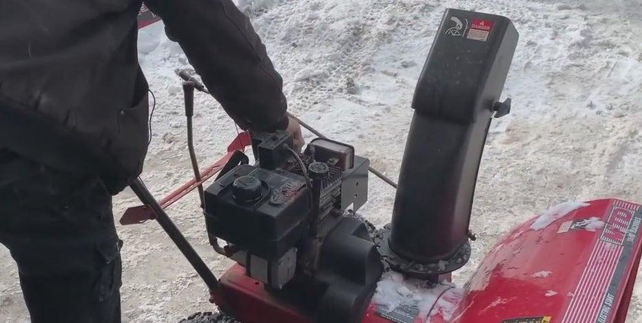 Milwaukee man refurbishes old snowblowers, gifts them to strangers