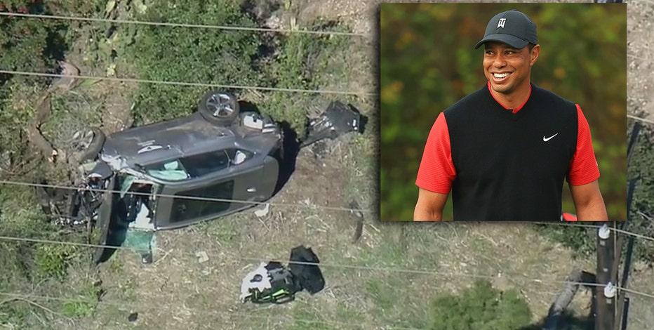 Tiger Woods suffers leg injuries after California car crash