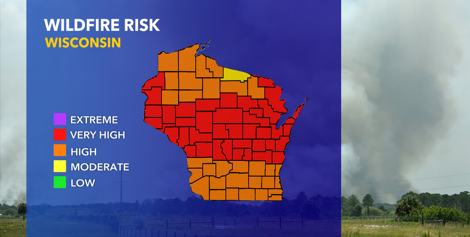 DNR: Fire danger 'high' or 'very high' for all of SE Wisconsin