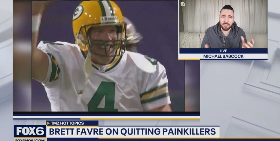 Packers legend Brett Favre is speaking out on quitting painkillers