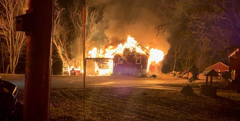 Fire damages unoccupied farmhouse in Village of Yorkville, no one injured