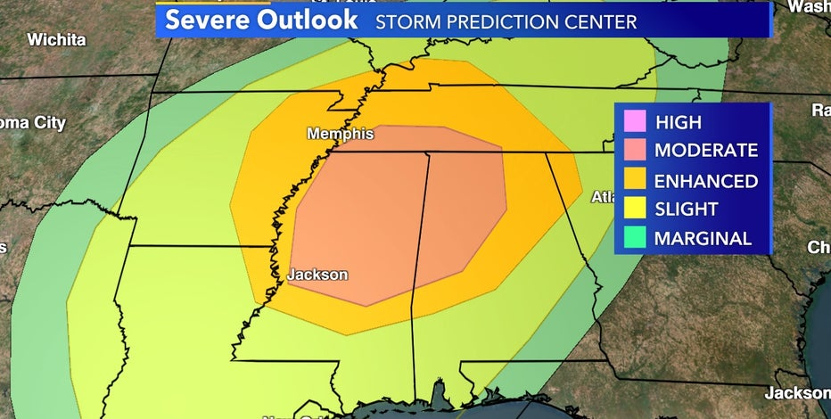 Another severe weather outbreak expected in the South