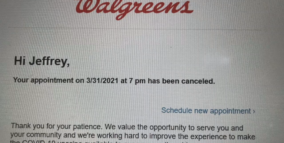 Glitch leads to cancelation of some 2nd COVID shots at Walgreens