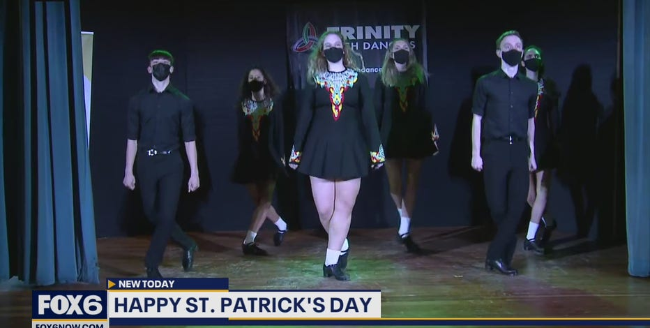The Trinity Irish Dancers spread some cheer this St. Patrick's Day