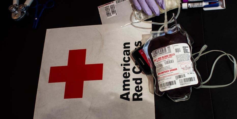 Give blood with the Red Cross during National Volunteer Month