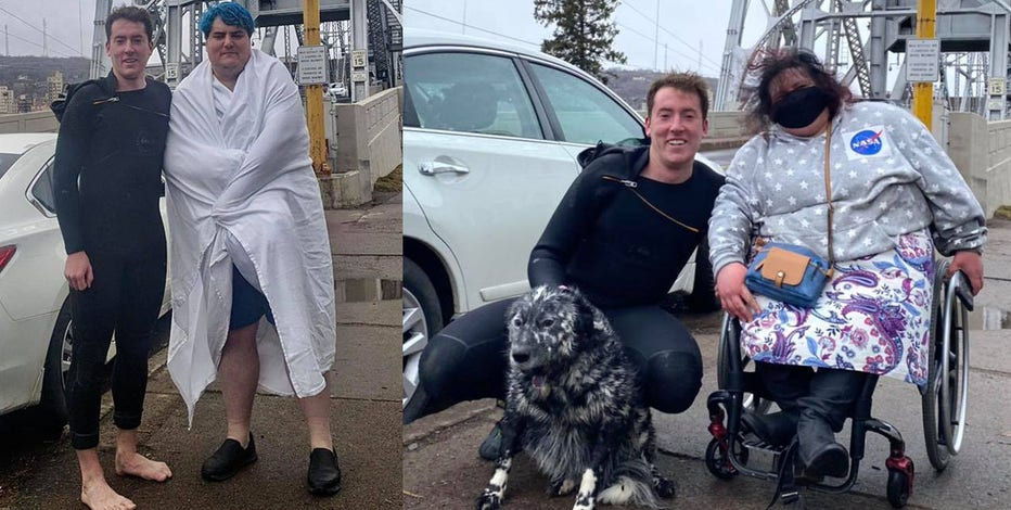 Minneapolis surfer rescues man, dog from choppy Lake Superior