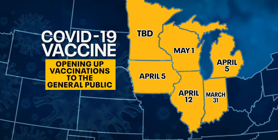States race to open up vaccines to general public; WI holds at May 1