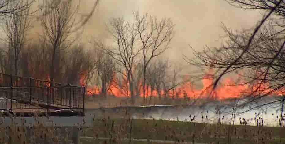 DNR: Menomonee Falls brush fire chars 450 acres; no injuries