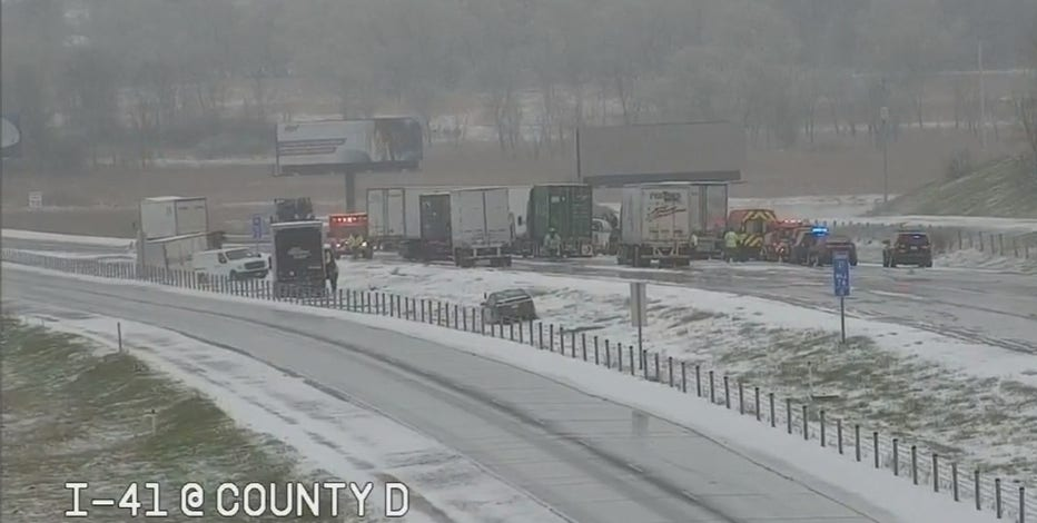 I-41 shut down in Washington County due to hazardous weather conditions