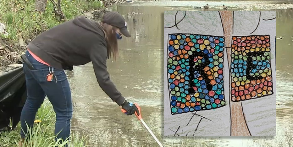 Artists collect Milwaukee River rubbish for community mosaic